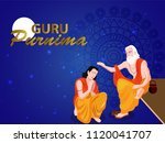 guru purnima  illustration  on... | Shutterstock .eps vector #1120041707