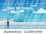 landscape interior view of the... | Shutterstock .eps vector #1120041944