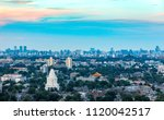 the white pagoda temple in... | Shutterstock . vector #1120042517
