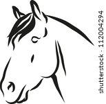 Stock vector horse vector illustration 112004294