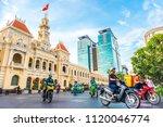 ho chi minh city  vietnam  ... | Shutterstock . vector #1120046774