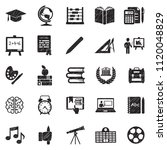 education icons. black scribble ... | Shutterstock .eps vector #1120048829