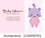 baby shower invitation card... | Shutterstock .eps vector #1120050701