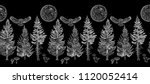 midnight forest seamless border ... | Shutterstock .eps vector #1120052414