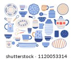collection of modern ceramic... | Shutterstock .eps vector #1120053314