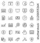 thin line vector icon set  ... | Shutterstock .eps vector #1120055264