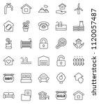thin line vector icon set  ... | Shutterstock .eps vector #1120057487