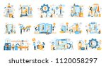 business process icons set with ... | Shutterstock .eps vector #1120058297