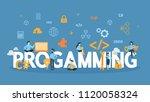 programming concept... | Shutterstock .eps vector #1120058324