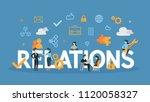 relations concept illustration. ... | Shutterstock .eps vector #1120058327