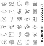 thin line vector icon set  ... | Shutterstock .eps vector #1120062674