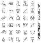 thin line vector icon set  ... | Shutterstock .eps vector #1120062704