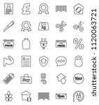thin line vector icon set   jar ... | Shutterstock .eps vector #1120063721