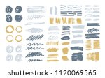 bundle of colorful brush... | Shutterstock .eps vector #1120069565