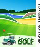 golf tournament ticket or flyer ... | Shutterstock .eps vector #1120072241