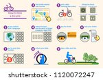 how to hire a bicycle... | Shutterstock .eps vector #1120072247