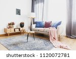 heathers on rustic cupboard and ... | Shutterstock . vector #1120072781