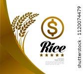 great gold rice vector | Shutterstock .eps vector #1120074479