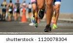 marathon running race  runners...   Shutterstock . vector #1120078304