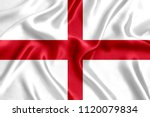 flag of england silk | Shutterstock . vector #1120079834