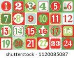 christmas advent calendar   Shutterstock .eps vector #1120085087