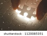 missing jigsaw puzzle piece... | Shutterstock . vector #1120085351