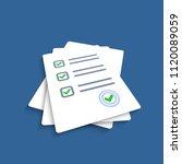 survey or exam form paper...   Shutterstock .eps vector #1120089059