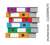 files  ring binders  colorful... | Shutterstock .eps vector #1120089674