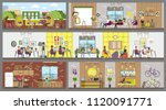 design studio interior rooms... | Shutterstock .eps vector #1120091771