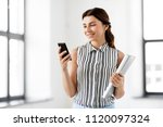 business people  technology and ... | Shutterstock . vector #1120097324