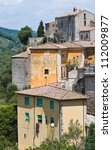 panoramic view of narni. umbria.... | Shutterstock . vector #112009877