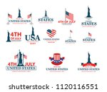 4th of july. usa independence... | Shutterstock .eps vector #1120116551