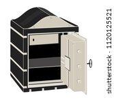 metal safe with open door....   Shutterstock .eps vector #1120125521