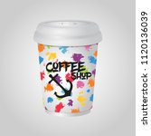 3d realistic coffee mug  cup... | Shutterstock . vector #1120136039