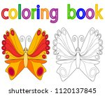 book coloring  butterfly | Shutterstock .eps vector #1120137845