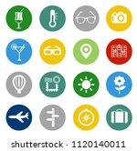 vector travel icons  vacation... | Shutterstock .eps vector #1120140011