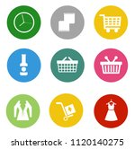 online marketing, e-commerce and shopping Icons, online business store - vector shopping and sale illustrations collection | Shutterstock vector #1120140275