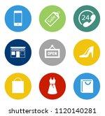 online marketing  e commerce... | Shutterstock .eps vector #1120140281