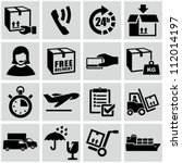 shipping and delivery icons set. | Shutterstock .eps vector #112014197