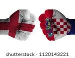 england vs croatia | Shutterstock . vector #1120143221