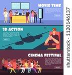 people in cinema  movie... | Shutterstock .eps vector #1120146137