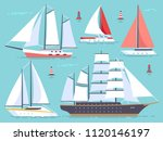 transportation sailboats  yacht ... | Shutterstock .eps vector #1120146197