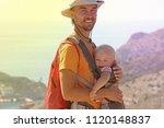 family travel concept. happy... | Shutterstock . vector #1120148837