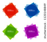 vector set of colored banners... | Shutterstock .eps vector #1120148849