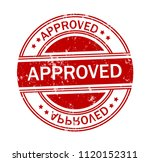approved grunge rubber stamp on ... | Shutterstock .eps vector #1120152311