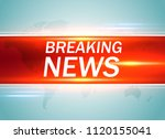 breaking news. world news with... | Shutterstock .eps vector #1120155041