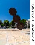 tel aviv yafo  israel   june 9  ...   Shutterstock . vector #1120157051