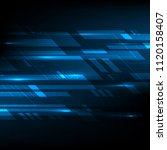 blue abstract technology... | Shutterstock .eps vector #1120158407