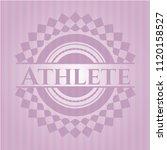 athlete realistic pink emblem   Shutterstock .eps vector #1120158527