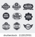 vintage retro labels and tags | Shutterstock .eps vector #112015931
